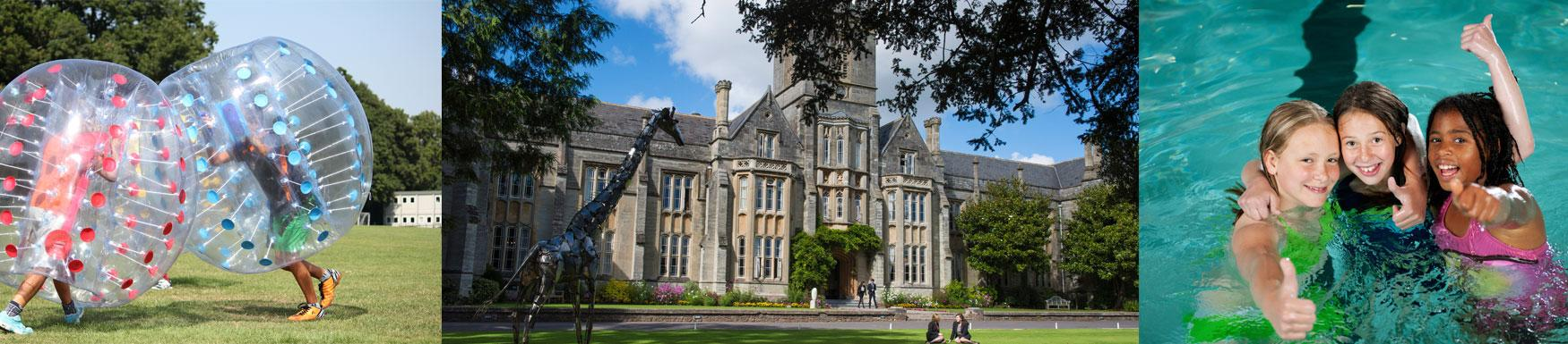 School holiday camp activities for all ages from 4-14 year olds at Queen's College, Taunton